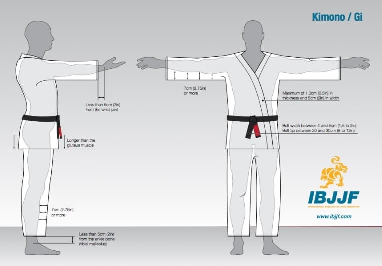BJJ Gi Sizing Guide